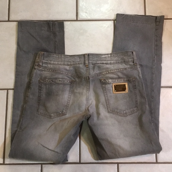 Dolce & Gabbana Other - Men's Dolce & Gabbana distressed gray jeans